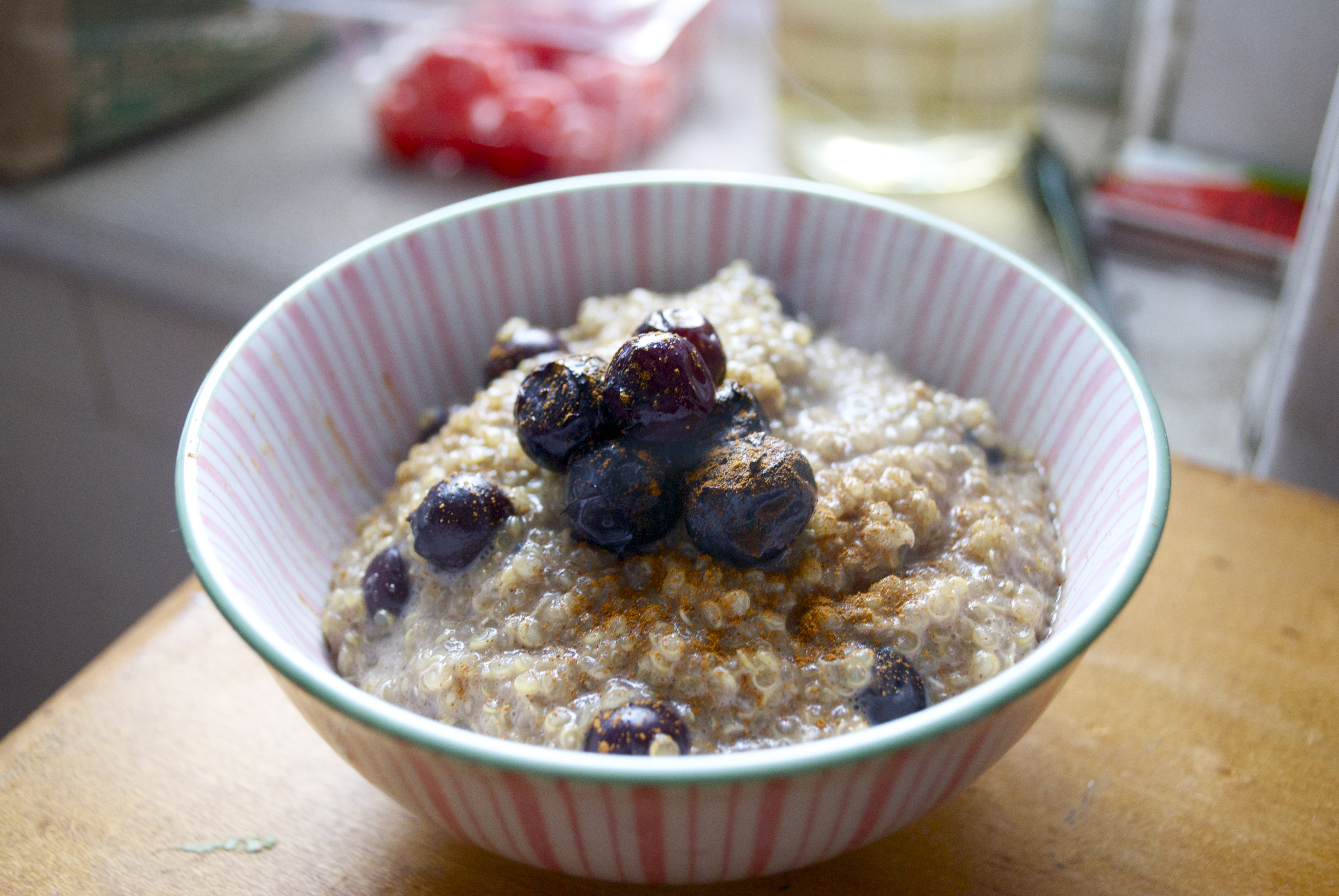 got inspired to make cinnamon breakfast quinoa yesterday when I ...
