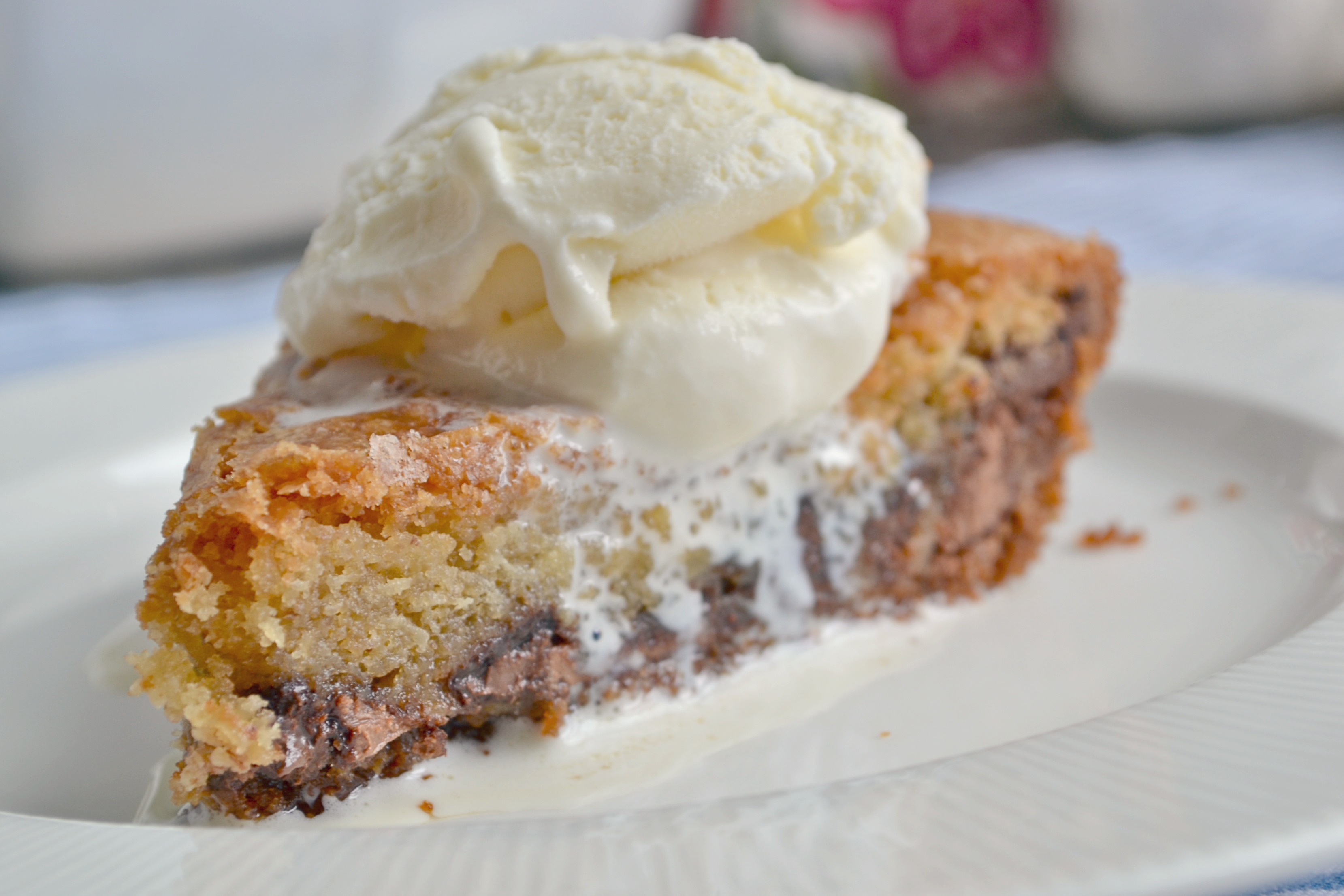 Ooey Gooey Chocolate Chip Cookie Pie | The Sweet Life
